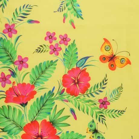 """фотография Палантин """"Квітка пристрасті"""" жовтий #4"""