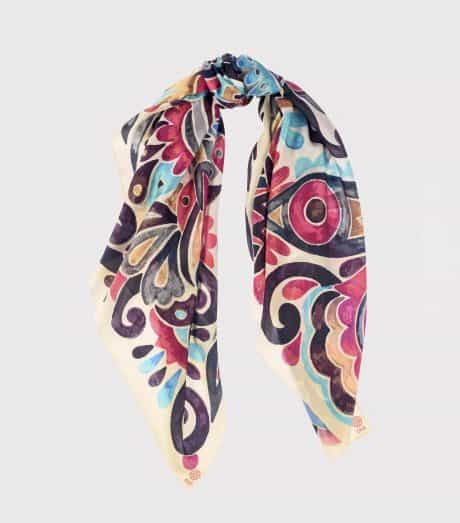 """фотография Square scarf """"Pink abstract"""""""