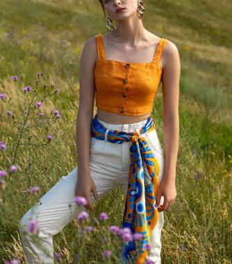 "фотография Square scarf ""Sunny abstract"""