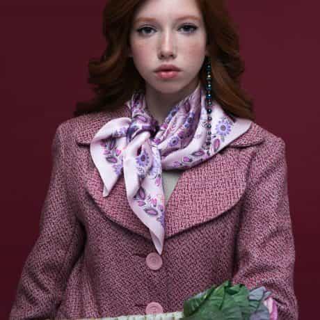 "фотография Square scarf ""First Love"" #2"