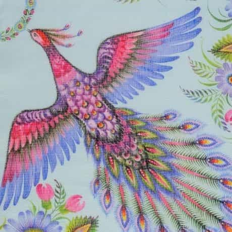 "фотография Wrap ""Magic Firebirds"" Turquoise #2"