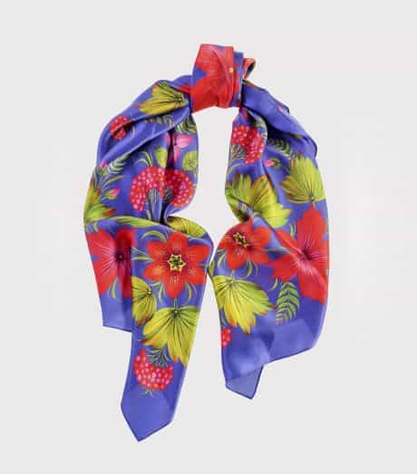 """фотография Square scarf """"Canadian"""" Blue"""