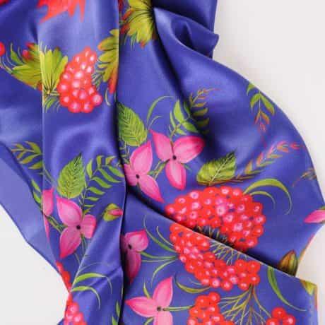 """фотография Square scarf """"Canadian"""" Blue #1"""