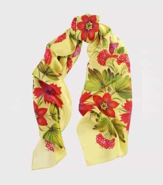 "фотография Square scarf ""Canadian"" Yellow"