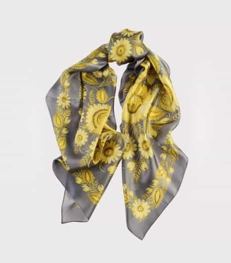 """фотография Square scarf """"Lemon Garden"""""""