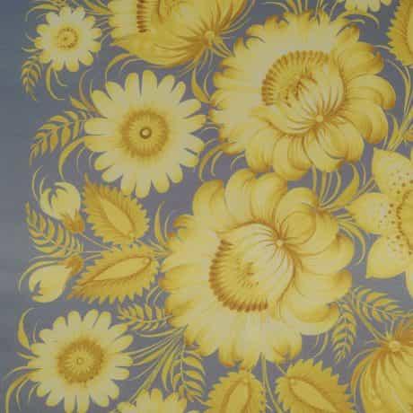 """фотография Square scarf """"Lemon Garden"""" #4"""