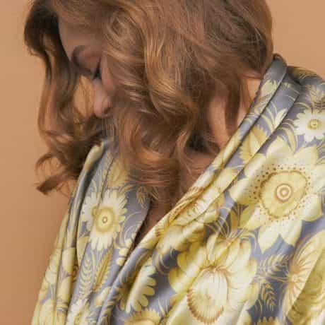 """фотография Square scarf """"Lemon Garden"""" #2"""