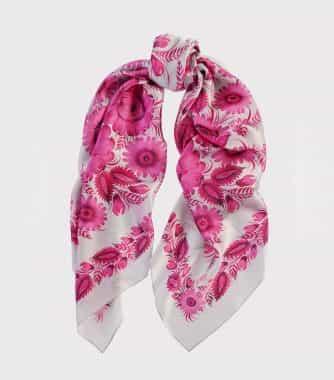 "фотография Square scarf ""Cherry blossom"""