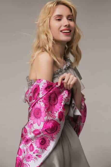 "фотография Square scarf ""Cherry blossom"" #1"