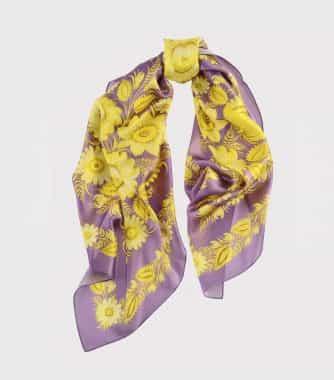 """фотография Square scarf """"Sunny violet"""""""