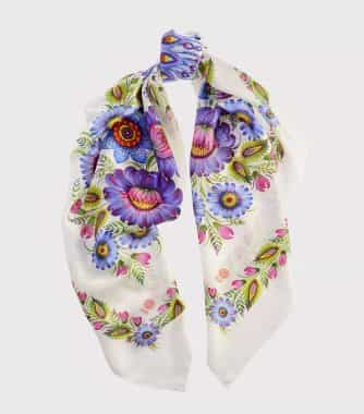 "фотография White square scarf ""Magic Firebirds"""