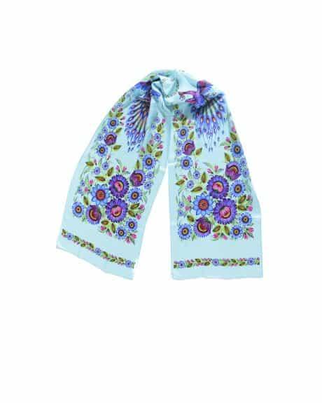 "фотография Turquoise shawl ""Magic Firebirds"""