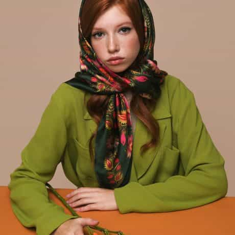 "фотография Square scarf ""Forest song"" #1"