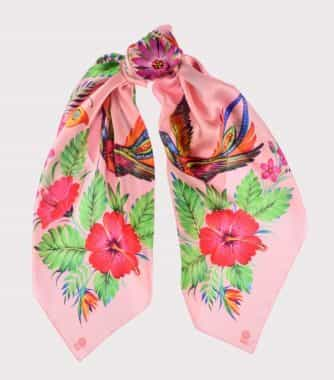 "фотография Square scarf ""Passion flower"" Pink"