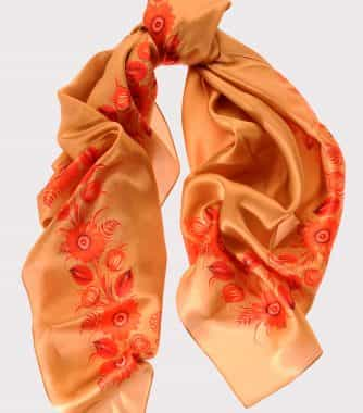 "фотография Square scarf ""Golden Infinity"""