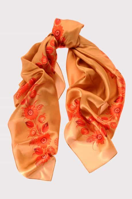 "фотография Square scarf ""Golden Infinity"""